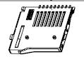 TF卡座外焊1.8mm自彈式
