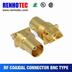 panel mount bnc connector female type coaxial cable bnc connector