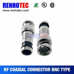 straight type rg6 bnc compression connector