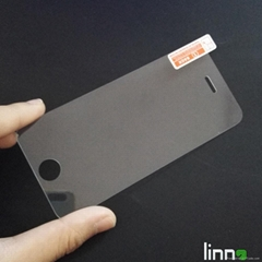 Linno Newest model tempered glass screen protector for iphone 5