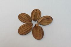 Plastic hooks with wood printing