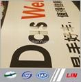 Custom Advertising Chrome Logo Signs Car