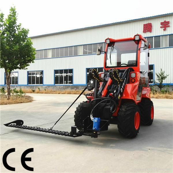 compact 4WD tractor DY840 mini garden front end loader  2
