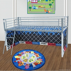 Kids metal bed with tent