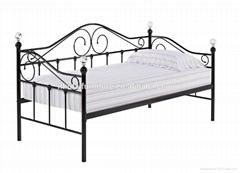 metal frame modern day bed