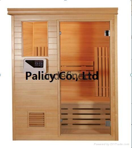 Traditional finland pine luxury Indoor mini portable dry sauna room 1