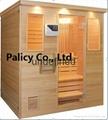 Traditional finland pine luxury Indoor mini portable dry sauna room 2