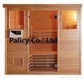 Traditional finland pine luxury Indoor mini portable dry sauna room 3