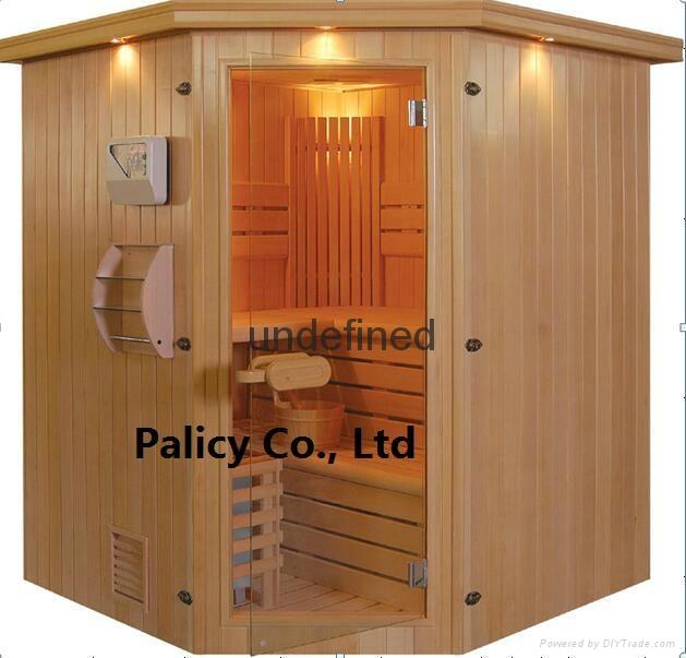 Traditional finland pine luxury Indoor mini portable dry sauna room 4
