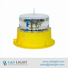 Low intensity Solar-Powered Aviation Obstruction Light