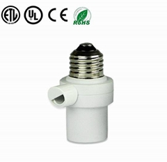 dusk to dawn screw in Bulb Holder photocontrol photocell  sensor switch