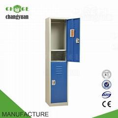 2  doors metal  storage  locker  cabinet