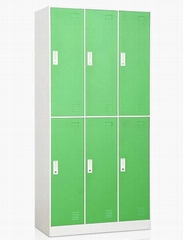 6  doors storage  metal  locker, staff  locker, gym  use