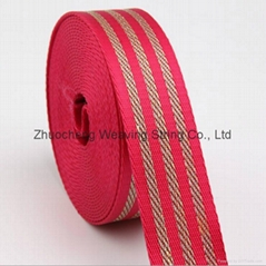 PP webbing with embroidery bullion elastic tape