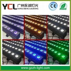 indoor led bar light 14pcs 30w COB RGBWAUV 6in1 led wall washer