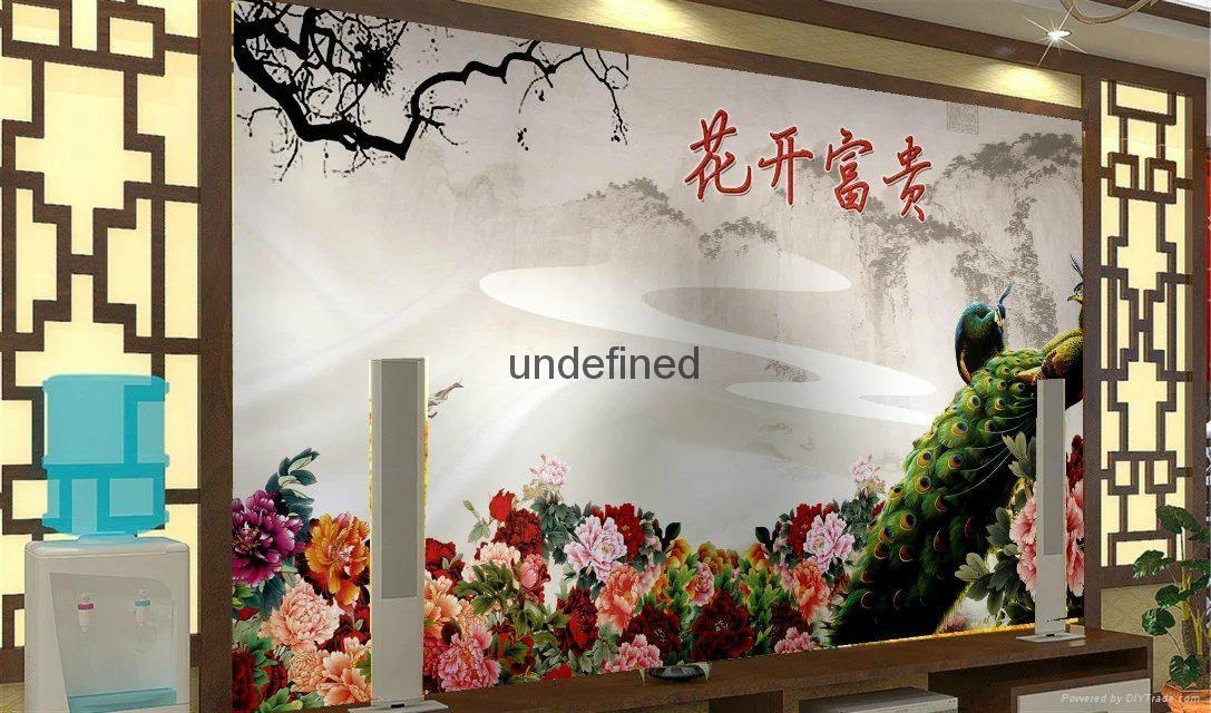 花开富贵牡丹背景墙 2