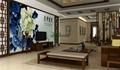 牡丹电视背景墙