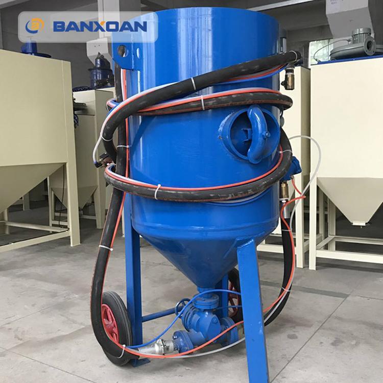 山西鋼結構鋼材除鏽移動開放式噴砂機 1