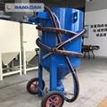 山西鋼結構鋼材除鏽移動開放式噴砂機 3