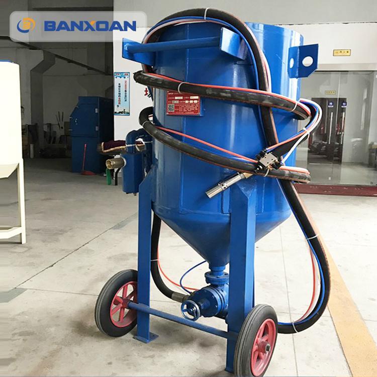 山西鋼結構鋼材除鏽移動開放式噴砂機 4