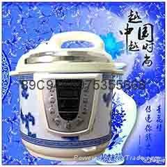 廠家直銷一年包換 批發禮品 特價智能青花瓷半球電壓力鍋