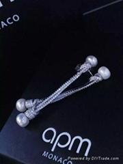 新款推出APMS925银镀珍珠耳钉郑秀纹演唱会款