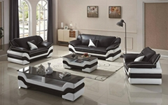 Modern Living Room Sectional Leather Sofa