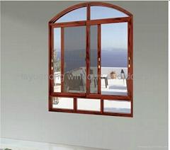 non-thermal break aluminum sliding window with trip rails