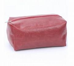 Red Crack PVC Cosmetic Bag