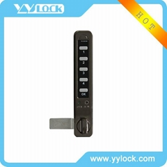 Electronic keypad lock for locker and cabinet