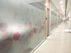 广州磨砂膜|广州办公室玻璃贴磨砂膜