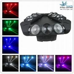 9pcs 10w rgbw 4 in 1 led beam moving head spider beam light