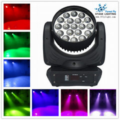 19pcs12w RGBW 4in1  moving head wash and zoom light