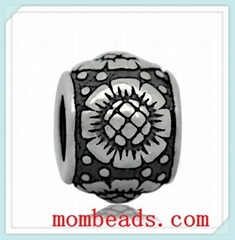Wholesale  Big hole 316L Stainless steel European Beads Charms