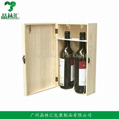 Classical Double Bottle Wooden Wine Box Red Wine Box