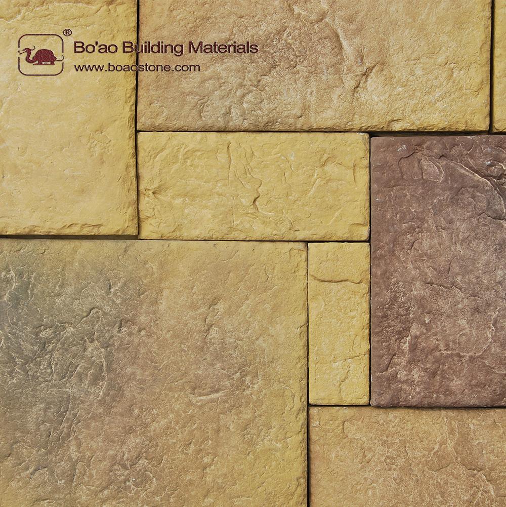 european castle reef rock stone wall covering decoration - ba