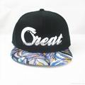 Custom 3D Embroidered Flat Bill Hip Hop