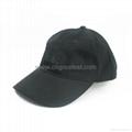 Custom 6 Panel Plain Black Unstructured Strapback Baseball Hat