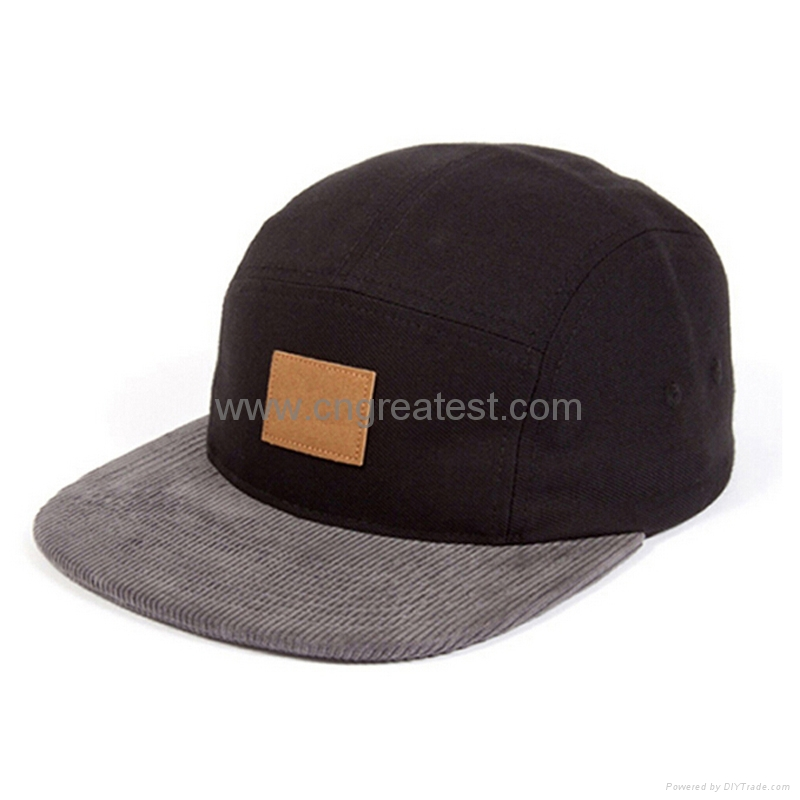 4830e8064f072 2015 Fashion Custom 5 Panel Cap With Leather Patch - 5 panel hat ...