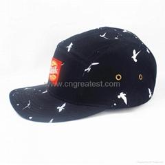 Custom 5 Panel Print Logo Woven Label Camp cap Hat And Cap