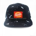 Custom 5 Panel Print Logo Woven Label Camp cap Hat And Cap 3