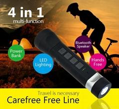 LED Flashlight Speaker Portable Bike Cycling Torch Lamp Bluetooth Speakers