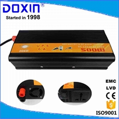 DC/AC Single output type 500w modified sine wave inverter with ups charger