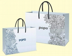 new design kraft paper bag with handle in machine price