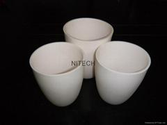 1800C 99.7% Alumina corundum ceramic crucibles