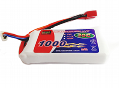 EP Lipo Battery Pack 1000mAh 30C 3S1P 11.1V for RC Car Boat Truck Heli Airplane