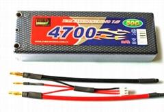 EP Hardcase Lipo Battery Pack 4700mAh 50C 2S1P 7.4V for RC Car
