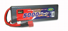 EP Lipo hardcase Battery Pack 5000mAh 40C 7.4V  2S1P
