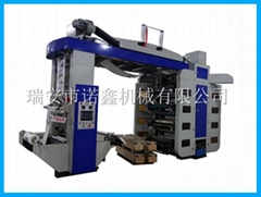 NXT8 8 color stack type flexo printing machine for plastic film bag