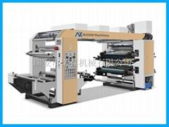 NXC4 4 color stack type flexo printing machine for plastic film bag